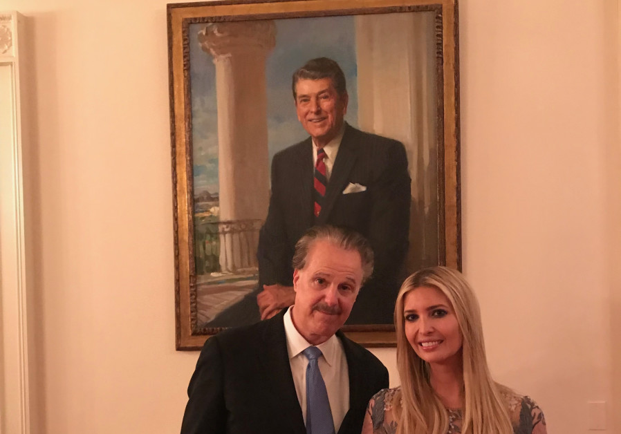 Mike Evans (L) and Ivanka Trump (R)