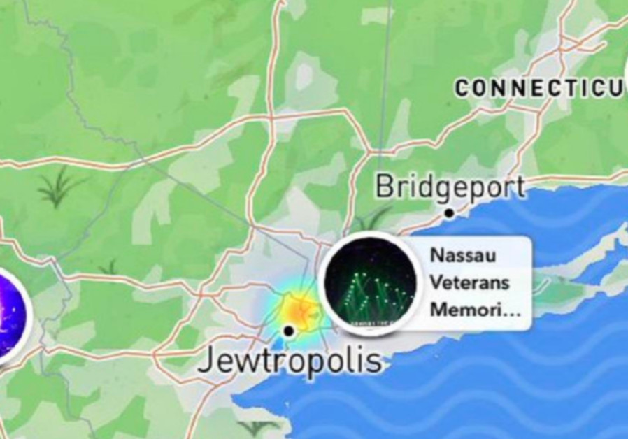Jerusalem Center Of The World Map.Snapchat Map Renames New York Jewtropolis Diaspora Jerusalem Post