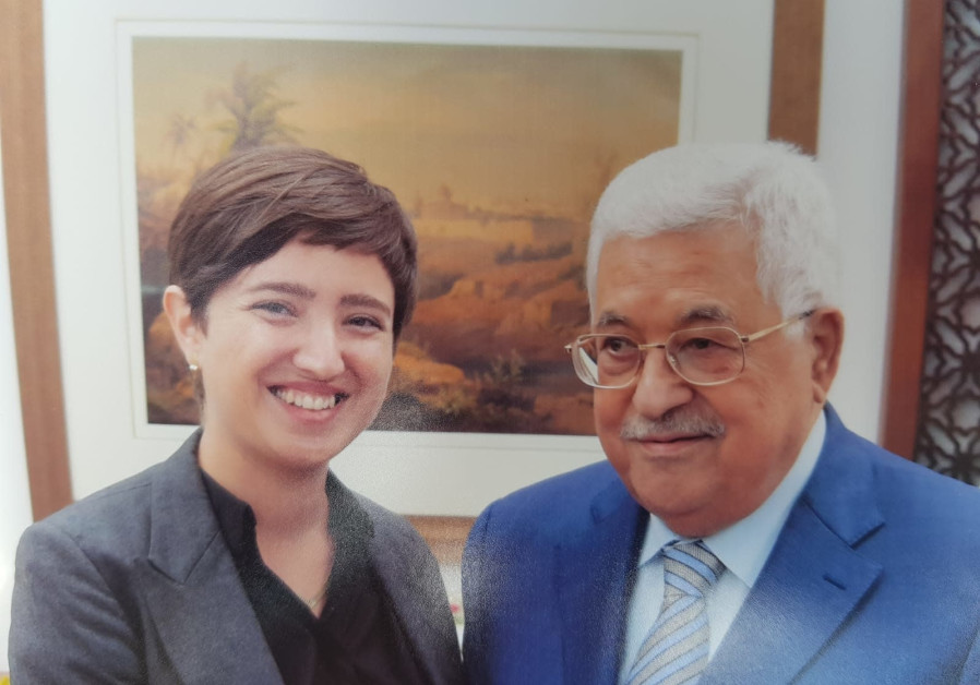 Shaqued Morag from 'Peace Now' meets with Mahmoud Abbas.