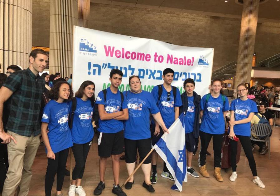 Na'ale September 2017 - Arrival at Ben Gurion Airport (credit: Courtesy)