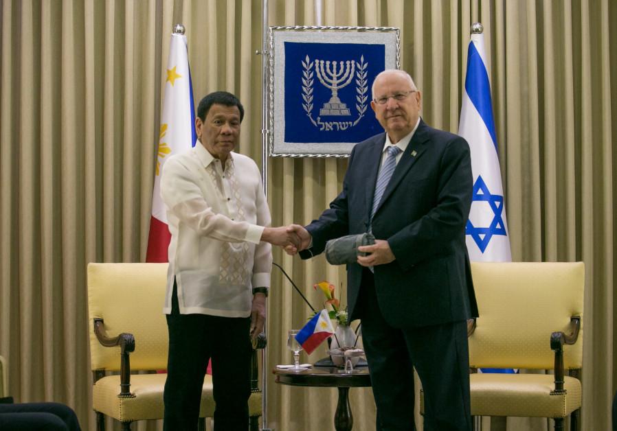 Risultati immagini per Duterte e Rivlin immagini