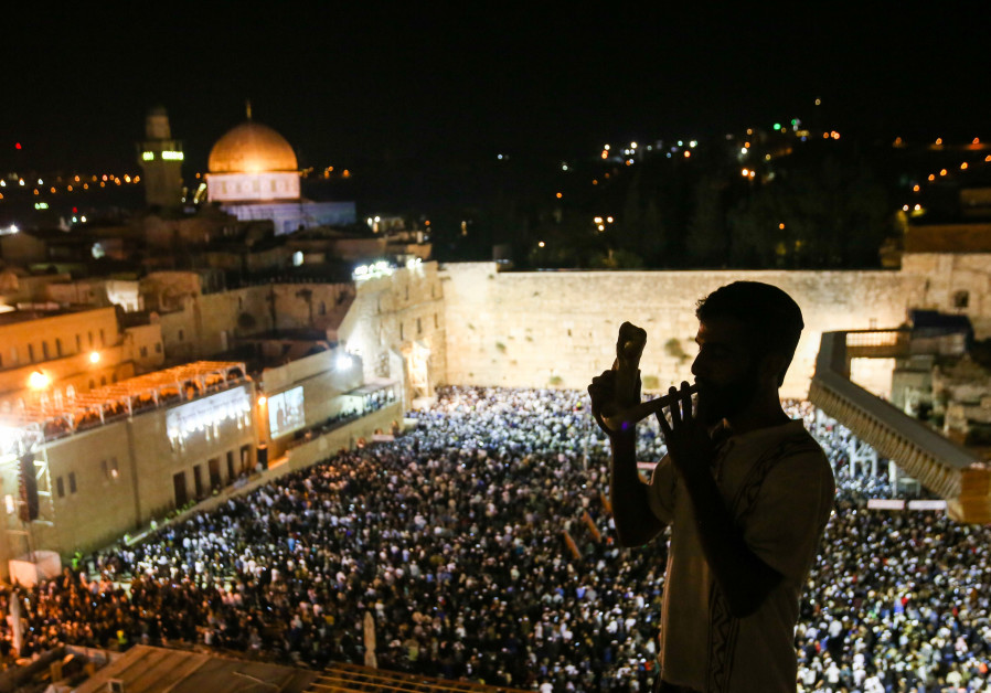 Slihot at Western Wall, September 4, 2018