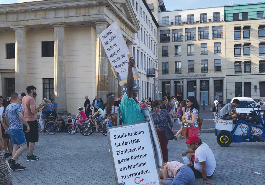 'THE FINAL outrage came from the man at the Brandenburg Gate who held a sign comparing Israelis to t