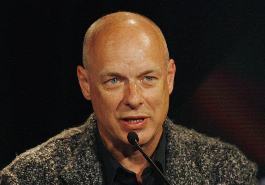 British contemporary artist Brian Eno talks to the media as part of the Sydney Vivid Festival at the