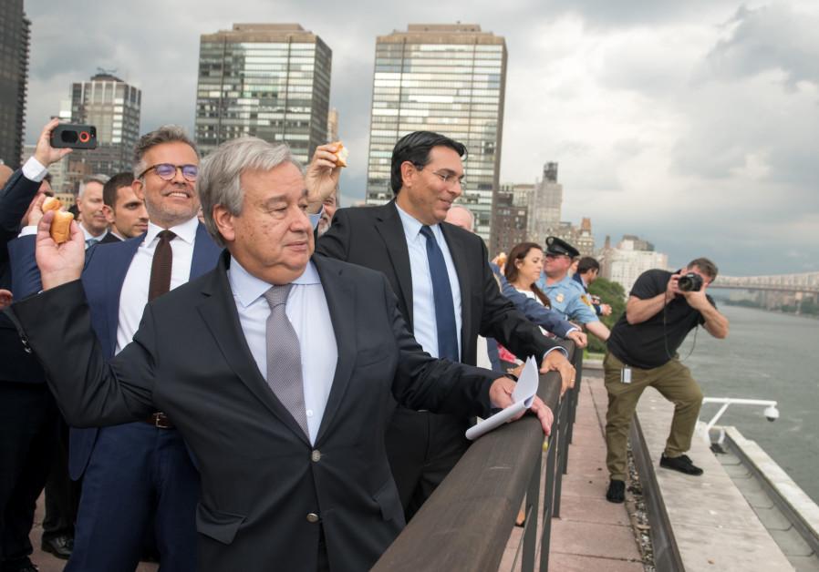 Danon leads United Nations in 'tashlikh' ceremony on East River