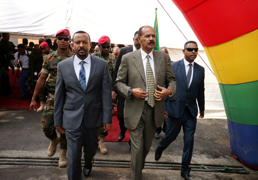 Eritrea's President Isaias Afwerki and Ethiopia's Prime Minister, Abiy Ahmed, 2018