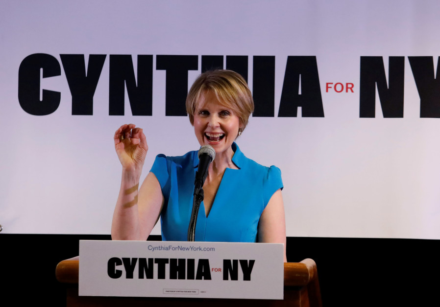 Actress Cynthia Nixon announces that she is running for Governor of New York at a campaign stop