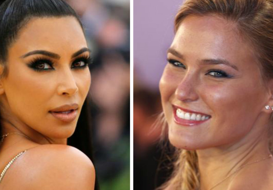 Kim Kardashian West (L) and Bar Refaeli (R). The pair will appear in an ad campaign in March 2019.