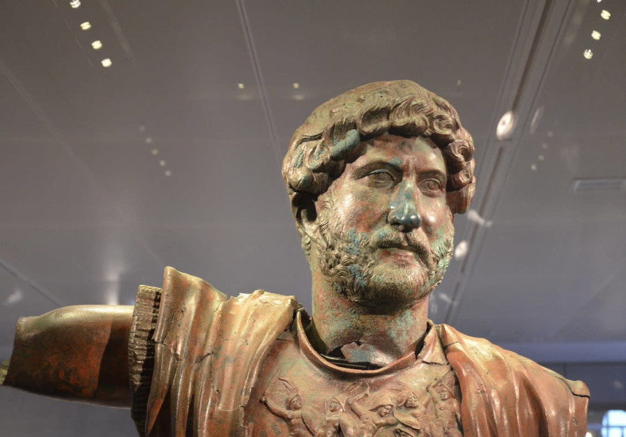 STATUE OF the Emperor Hadrian unearthed at Tel Shalem, commemorating the Roman military victory