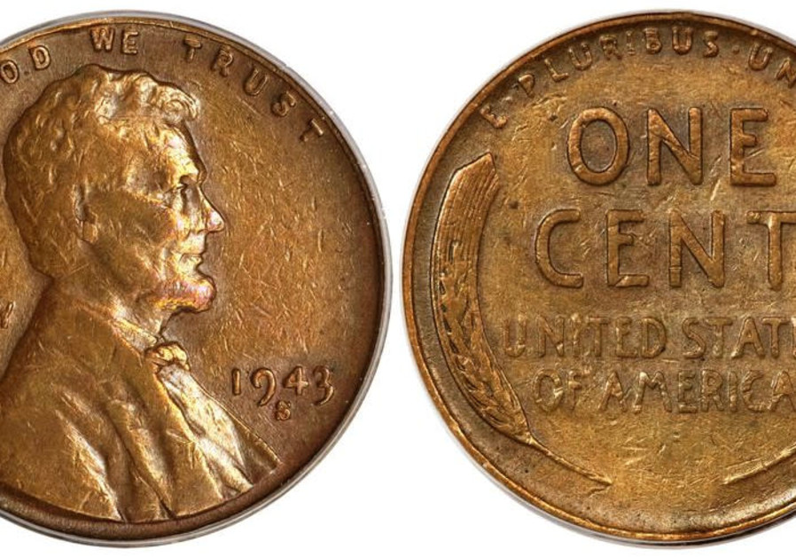1943 copper penny (Wikimedia Commons)