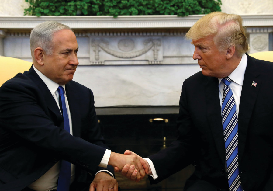 US President Donald Trump meets with Israel Prime Minister Benjamin Netanyahu in the Oval Office.