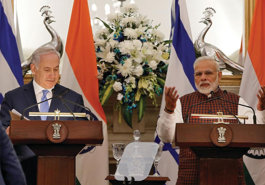 INDIA'S PRIME Minister Narendra Modi and Prime Minister Benjamin Netanyahu.