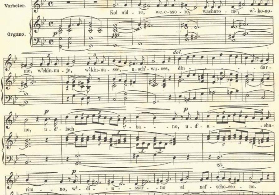 "The notes to Louis Lewandowsky's version of Kol Nidre, taken from ""Todah W'Simrah"", Louis Lewandowsky"