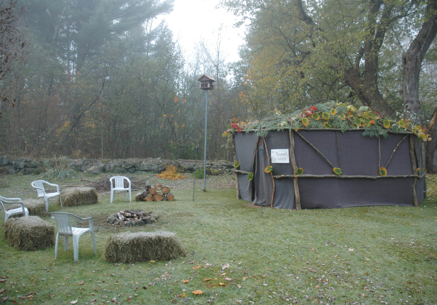 A 'plesant sukkah' in New Hampshire