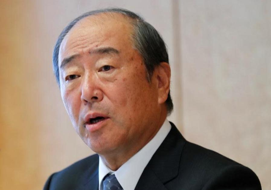 Idemitsu Chairman Takashi Tsukioka speaks at a news conference in Tokyo, Japan, July 10, 2018