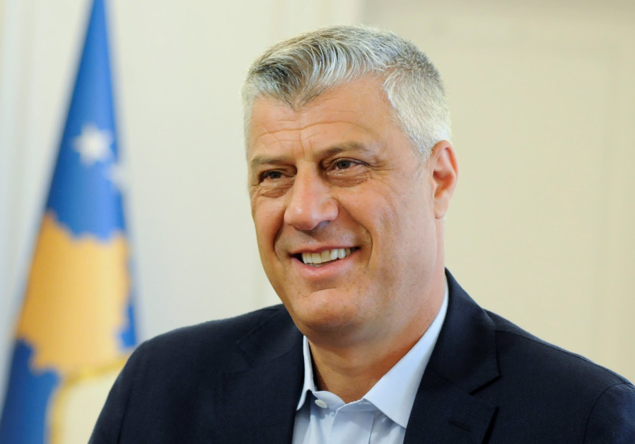 Kosovo President Hashim Thaci speaks during interview in Pristina, Kosovo August 14, 2018