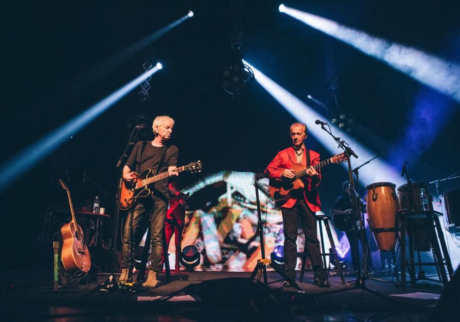 Matti Caspi and Shalom Hanoch, each a superstar in the music industry (September 23, 2018).