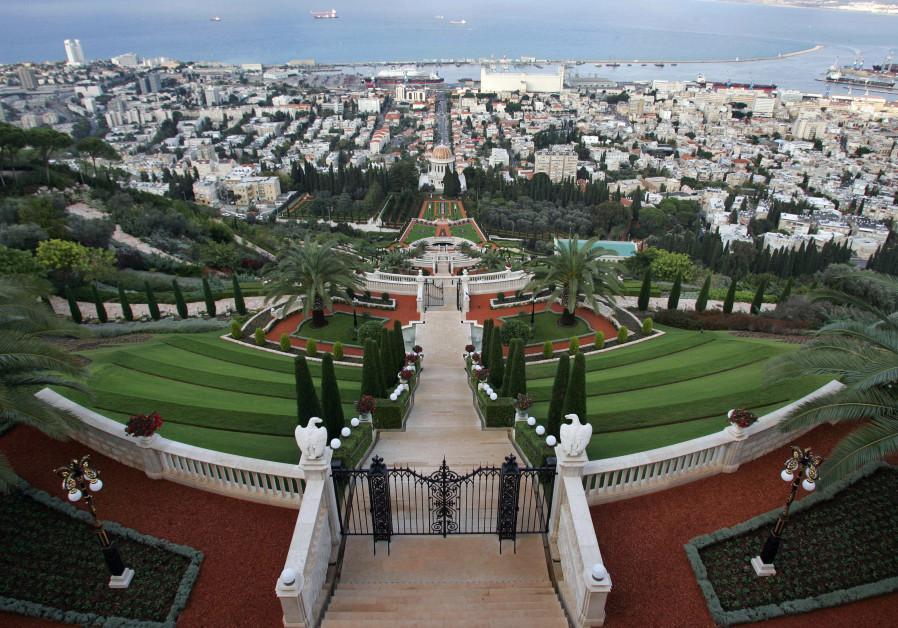 A holy shrine of the Baha'i faith is seen in the northern Israeli city of Haifa in November 06