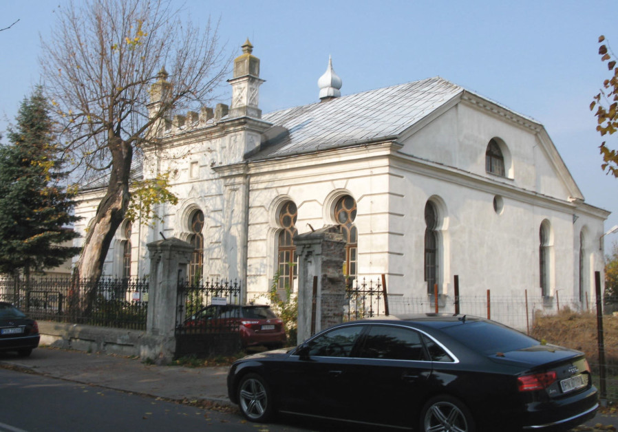 A view of the synagogue in Konin, Poland