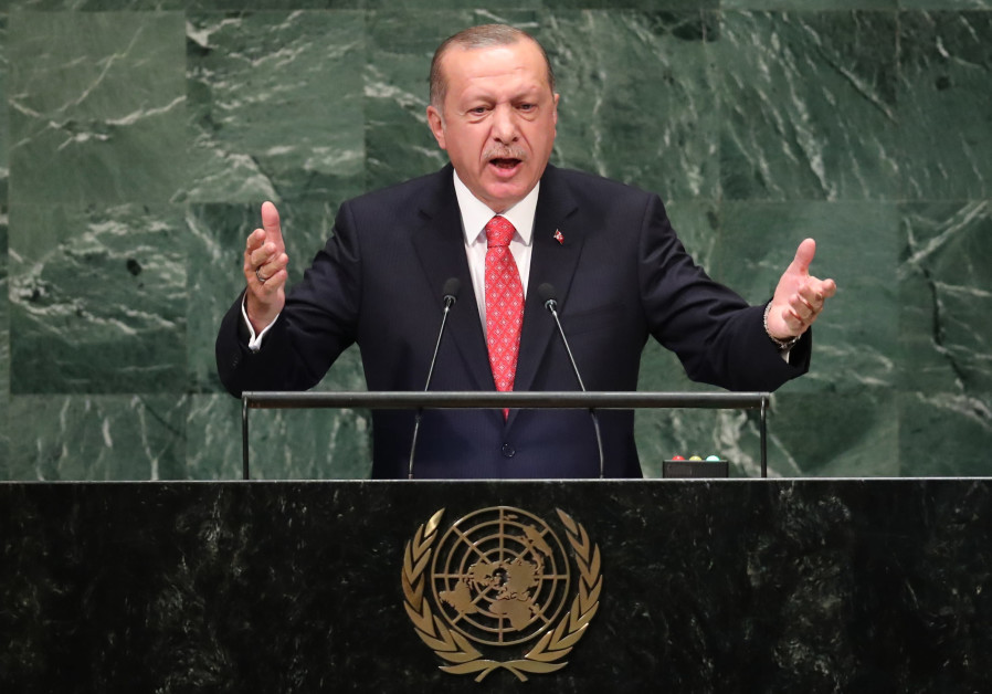Turkey's President Recep Tayyip Erdogan addresses the 73rd session of the United Nations General Ass