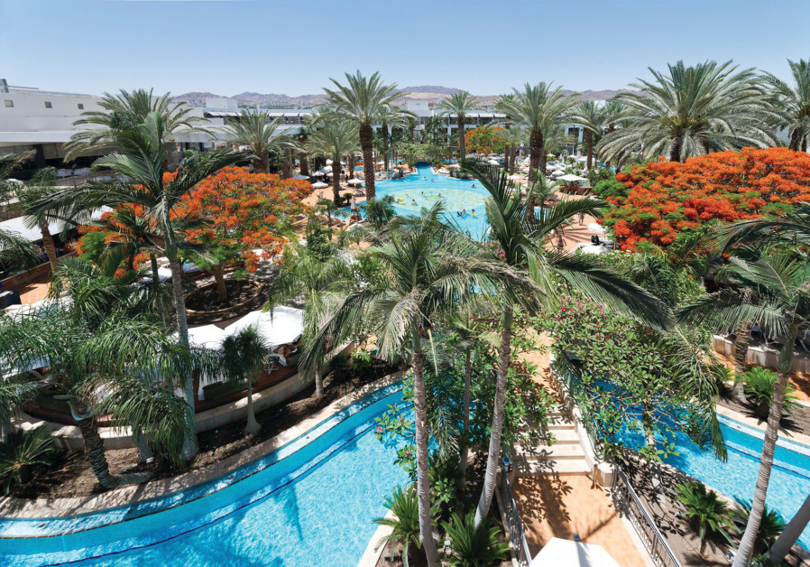AT THE AGAMIM Hotel, there is no escaping the breathtaking view of the desert mountains