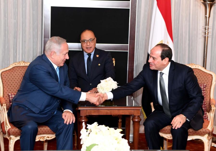 Prime Minister Benjamin Netanyahu met with the Egyptian President Abdel Fattah al-Sisi in New York