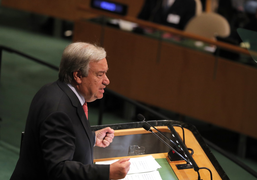 United Nations Secretary General Antonio Guterres delivers the opening address at the 73rd session