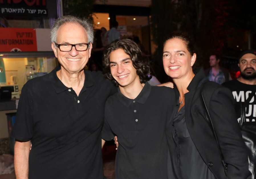 Iris and Avi Nesher with their son Ari at the opening evening of the film festival in Haifa