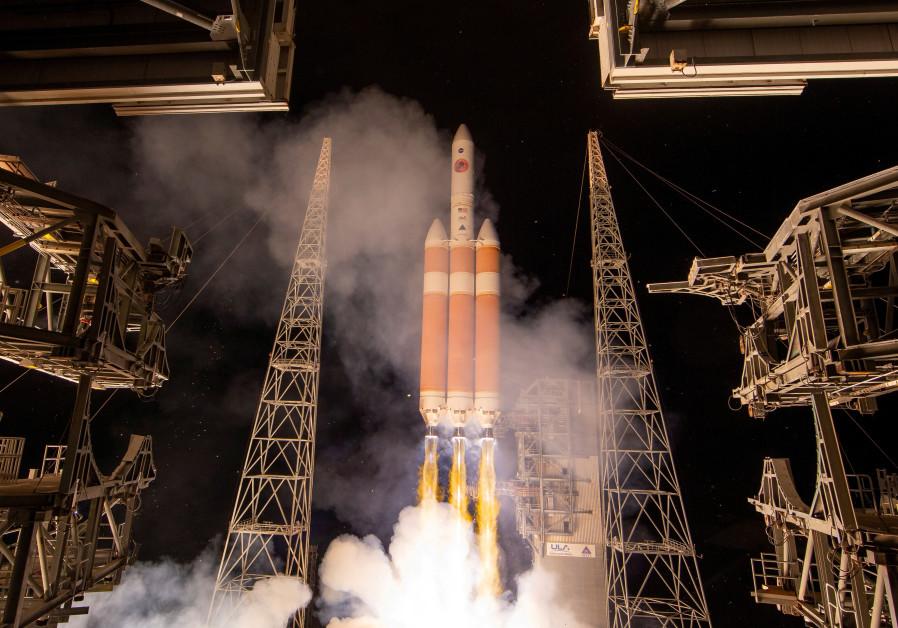 The United Launch Alliance Delta IV Heavy rocket launches NASA's Parker Solar Probe