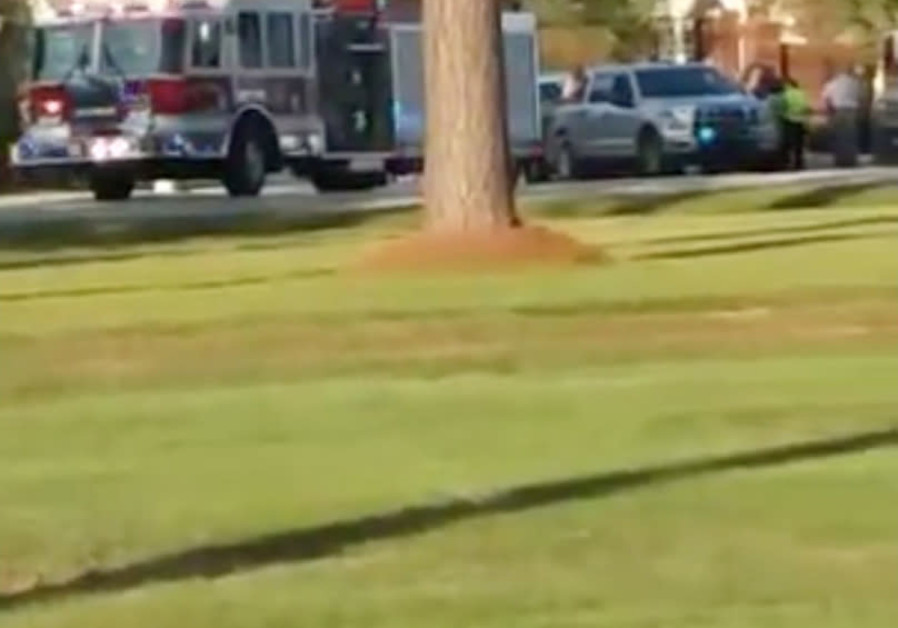 Emergency personnel are seen on site in the aftermath of a shooting in Florence, South Carolina, U.S