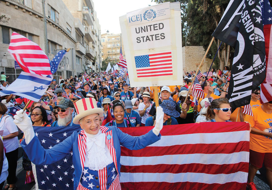 The American delegation participates in the Jerusalem March on September 27