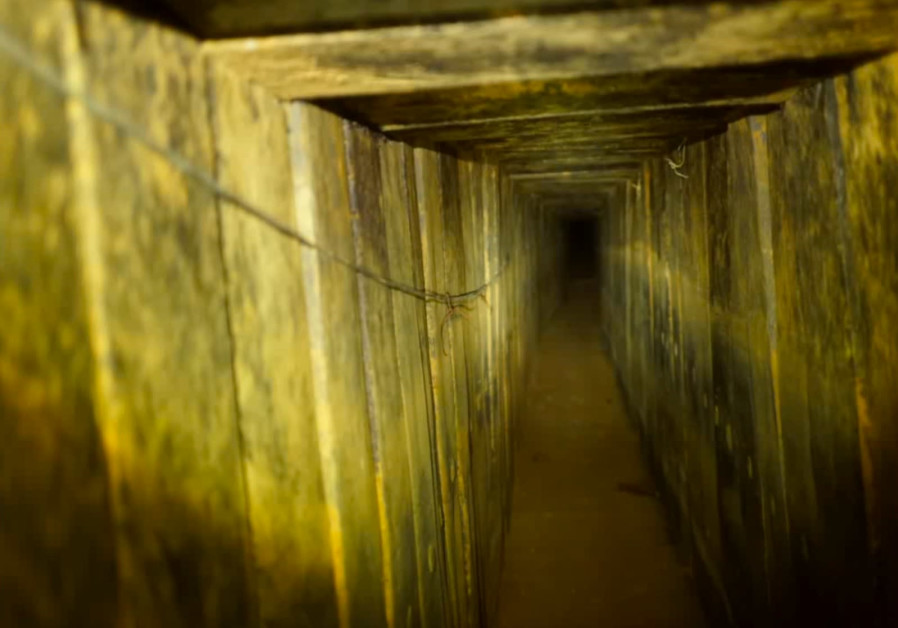 Hamas offensive tunnel in Gaza Strip