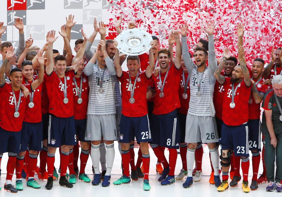 Bayern Munich v VfB Stuttgart - Allianz Arena, Munich, Germany - May 12, 2018 Munich's Mueller