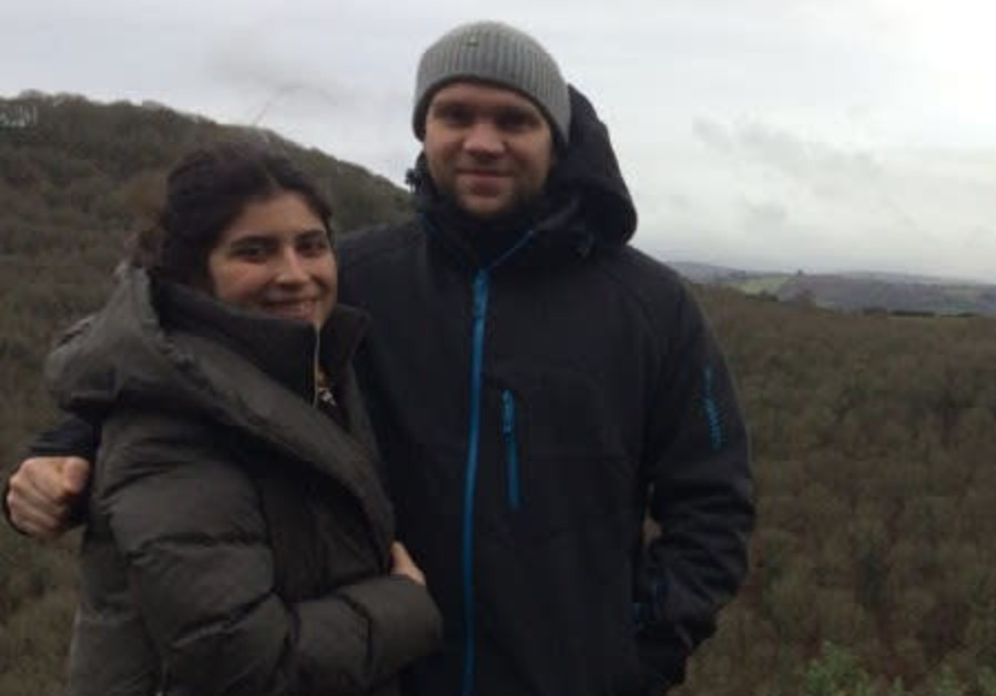 Research student on hiking trip with his young wife