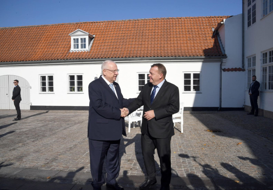 President Rivlin and Danish Prime Minister Lars Løkke Rasmussen met on October 11