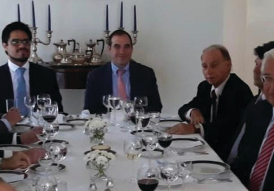 US AMBASSADOR David Friedman (second right) with Latin American colleagues at a luncheon hosted by A