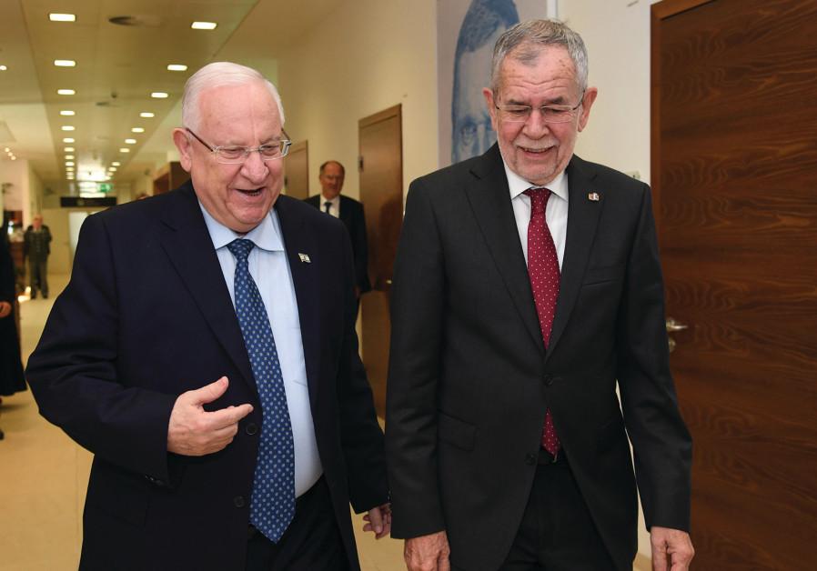 PRESIDENT REUVEN RIVLIN meets Federal President Alexander Van der Bellen of Austria at Vienna Intern