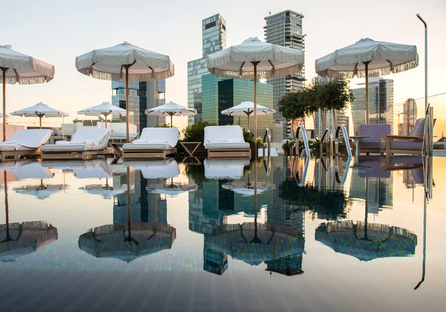Rooftop pool at The Norman, Tel Aviv (photo credit: SIVAN ASKAYO)