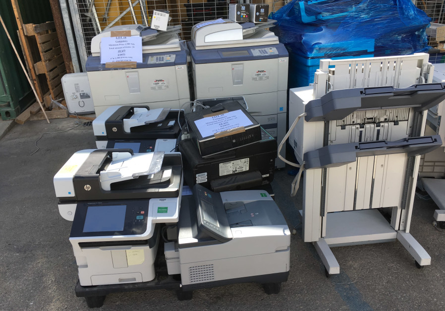 Printers and office machinery auctioned by the US Embassy