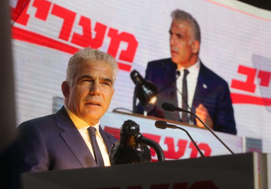 Yesh Atid Chairman Yair Lapid at the Maariv Leaders Conference