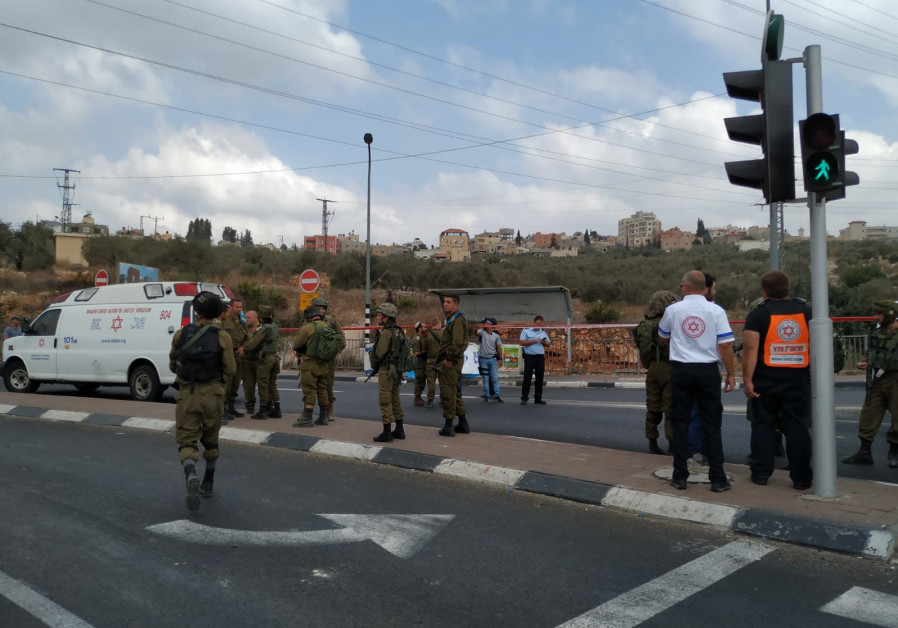 The site of a terror attack at Gitai Avisar Junction on Monday October, 15, 2018