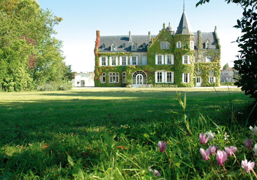 LASCOMBES, A beautiful ivy-covered, turreted chateau.