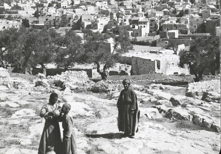 HEBRON IS pictured in a historic lecture booklet, which notes, 'Hebron is very ancient, built origin