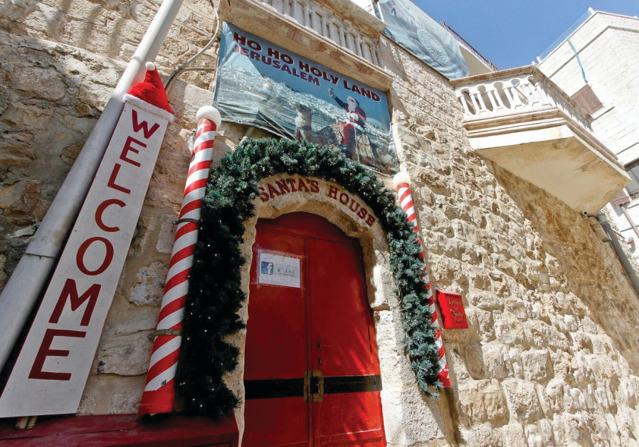 SANTA'S HOUSE in the Christian Quarter of the Old City opens its doors