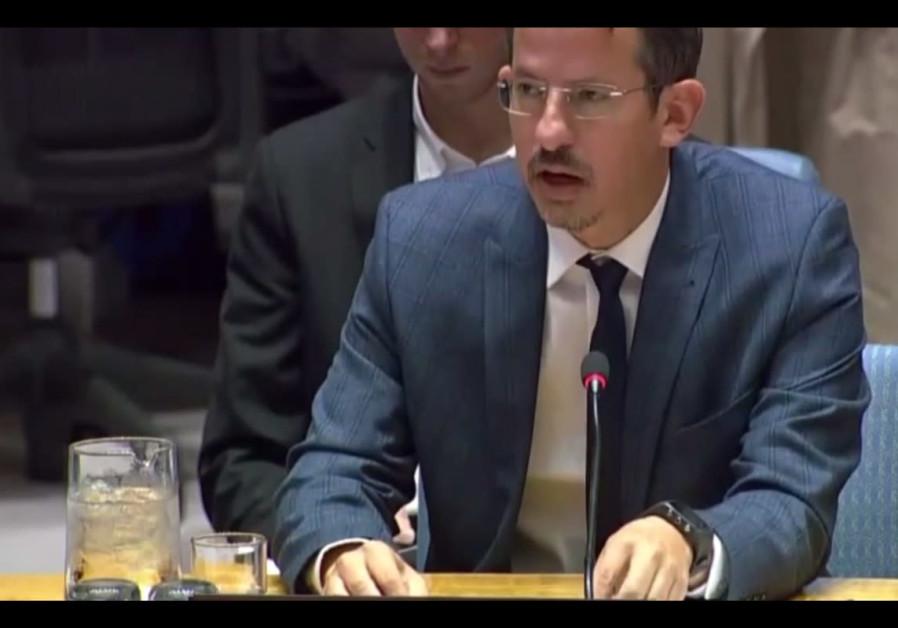 B'Tselem's Director-General Hagai El-Ad adresses the UN Security Council, October 18th, 2018