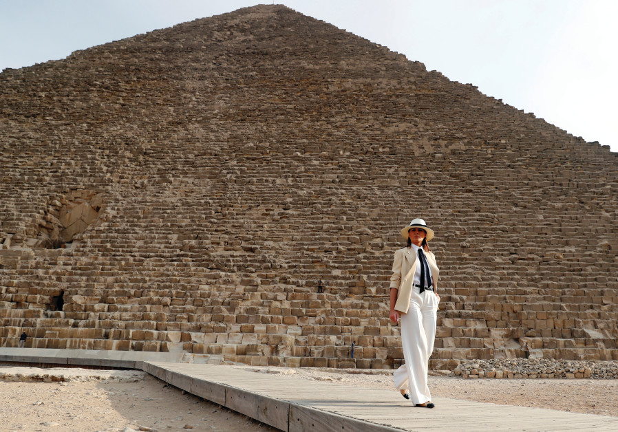 MELANIA TRUMP enjoys a trip to the pyramids