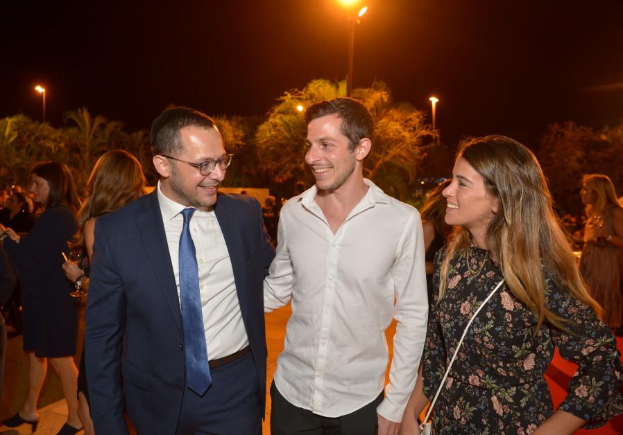 Gilad Shalit and his girlfriend Nitzan at Shalva gala.