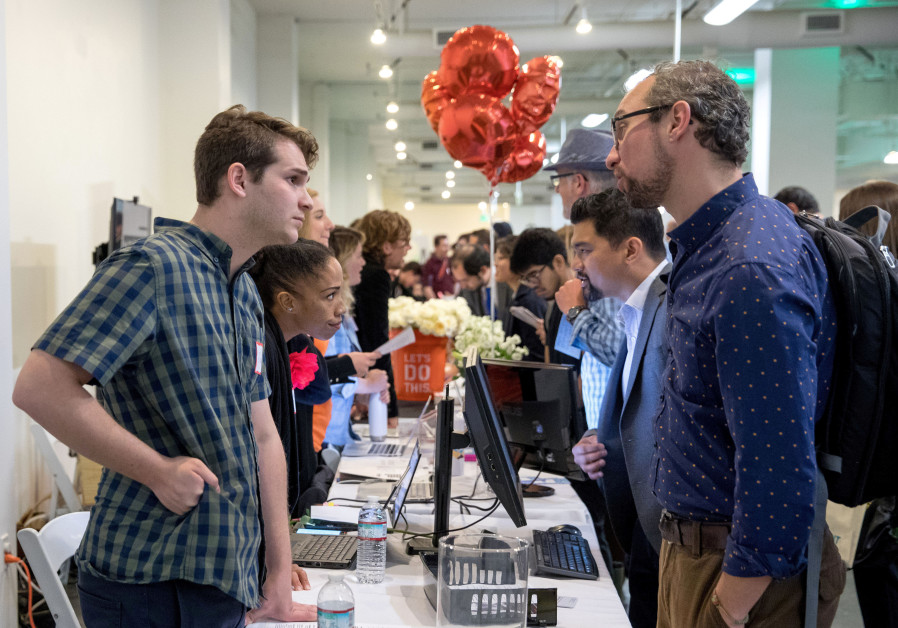 Job seekers and recruiters gathered at TechFair in Los Angeles