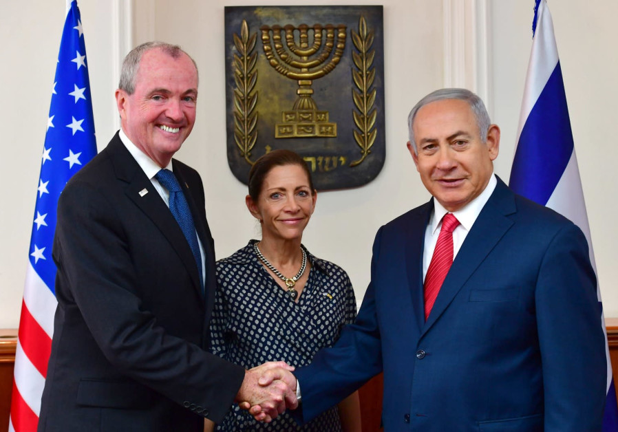 Prime Minister Benjamin Netanyahu and New Jersey Governor Philip Dunton Murphy, October 23, 2018