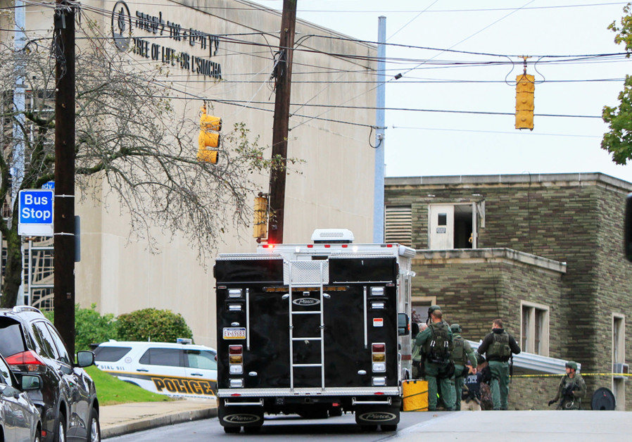 SWAT police officers respond after a gunman opened fire at the Tree of Life synagogue in Pittsburgh